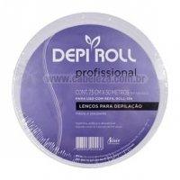 Lenço para Depilação Depi Roll Rolo Branco 50m