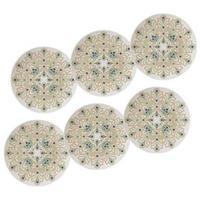 Conjunto de Pratos Fundos Oxford Lindy Hop 24 cm em Porcelana 6 Peças