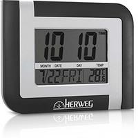 Relógio de Parede Digital Herweg 6404-70 Prata Metálico