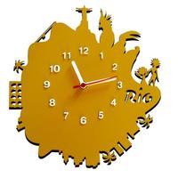 Relógio De Parede Decorativo Me Criative Rio Amarelo