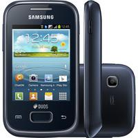 Smartphone Samsung Galaxy Pocket Plus Duos GT-S5303 Desbloqueado GSM Dual Chip Android Preto