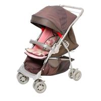 Carrinho de Bebê Galzerano Maranello Chocolate Rosa e Marrom
