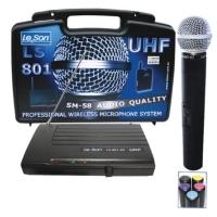 Microfone de Mão Sem Fio Leson LS801HT UHF SM58