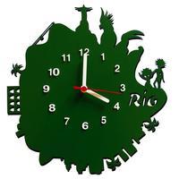 Relógio De Parede Decorativo Me Criative Rio Verde