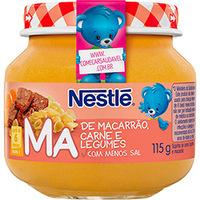 Papinha Nestlé Carne Legumes e Macarrão 115g 6 unidade