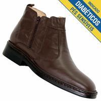 Botina Doctor Shoes Confort Masculina Café