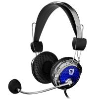 Fone de Ouvido C3 Tech Headphone com Microfone Gamer Pterodax Mi-2322rc Prata e Azul