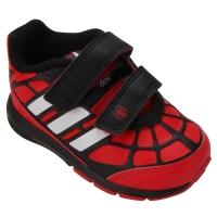 Tênis Adidas Disney Spiderman CF Infantil Vermelho e Preto
