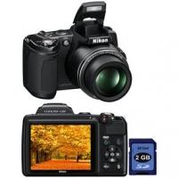 Câmera Digital Nikon Coolpix L120 14.1MP Preta + Cartão 2GB