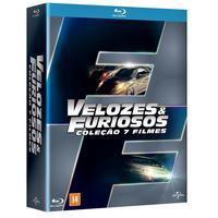 Box Velozes e Furiosos 7 DVDs Blu-Ray - Multi-Região / Reg.4