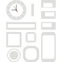 Decor Clock Kapos Abstrato Branco