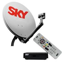 Kit de Antena Parabólica Sky Livre 150 cm + Receptor Digital Sky Technicolor S14