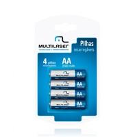 Pilhas Recarregáveis Multilaser AA 2500mah CB052 Multilaser