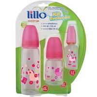 Kit Mamadeiras Lillo Evolução Divertida 661331 Rosa 3 Peças