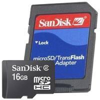 Cartão de Memória Micro SD Sandisk 16GB + Adaptador SD