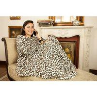 Cobertor de TV com Mangas Solteiro Loani Leopardo