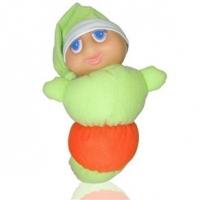 Boneco Soninho Toca Música de Ninar Baby Brink 1012 Verde e Laranja