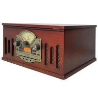 Sistema de Áudio HI-FI com Toca Discos Entrada USB Rádio FM e Unidade de Gravação CTX Scala