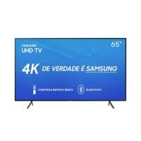 Smart TV LED 65 Samsung RU7100 UN65RU7100GXZD Ultra HD 4K Wi-Fi Conversor Digital Integrado Preta