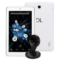 "Tablet DL TabCam TP299 7"" 8GB Wi-Fi Android 4.4 Branco + Câmera IP"