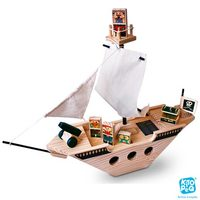 Navio Pirata Kitopeq com 08 Peças em Madeira