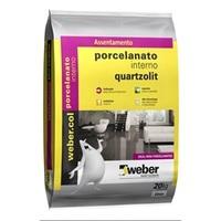 Argamassa Porcelanato Interno Cinza Quartzolit 20kg