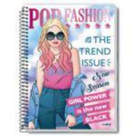 Caderno Credeal Aspiral Capa Dura pop Fashion 96 Fls Kit 05 unid
