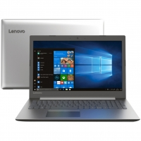 "Notebook Lenovo Ideapad 330 81FE0005BR i3-7020U 4GB 1TB 2.3Ghz 15.6"" Windows 10 Prata"