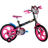 Bicicleta Caloi Monster High T10R16V1 Aro 16 Preta e Rosa