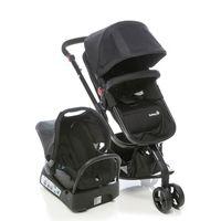 Carrinho de Bebê Travel TS Safety 1st Mobi Preto + Bebê Conforto
