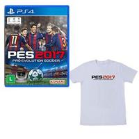 Jogo Pro Evolution Soccer 2017 Playstation 4 Sony + Camiseta Exclusiva PES 2017