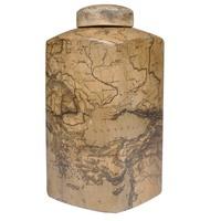 Pote Decorativo Incasa BR0045 Cerâmica Cinza