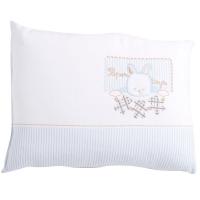Travesseiro de Malha Bordada Belmar Coelhinho Azul