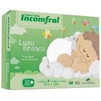 Toalha Fralda Luxo Liso Incomfral 27645 Branco 3 Peças