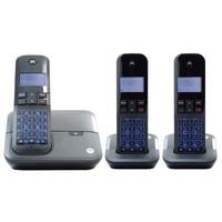 Telefone Sem Fio Digital Motorola 2 Ramais Identificador De Chamadas Dect 6.0 Moto4000 MRD