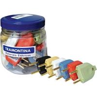 Mini Pote De Plugs Macho Tramontina 10A 250V 42 Unidades