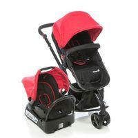 Carrinho de Bebê Travel TS Safety 1st Mobi Vermelho e Preto + Bebê Conforto