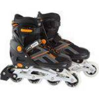 Patins Life Zone Max Power Abec-7 Preto Laranja