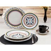 Aparelho de Jantar Oxford Floreal Luiza 30 Peças em Porcelana