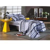 Cobre-leito Karsten Cusco Com Porta-travesseiro Solteiro Azul