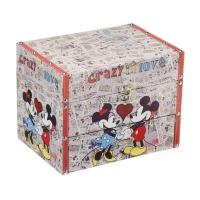Porta Jóias Disney Mickey e Minnie Colorido 25X18Cm