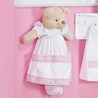 Porta Fraldas Boneca Ursa Imperial Rosa Batistela Baby 100% Algodão