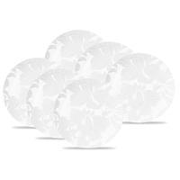 Conjunto de Pratos Rasos Oxford Blanc 28 CM em Porcelana 6 Peças
