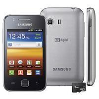 Celular Samsung Galaxy Y GT-S5367 3G Desbloqueado GSM Android Prata + Cartão 2G