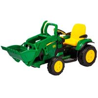Mini Trator Elétrico John Deere Ground Loader Peg-Pérego 12V
