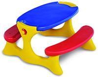 Mesa Recreio Bandeirante Amarelo/Azul