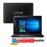 Notebook Vaio Fit 15F VJF153B0111B i3-5005U 4GB 1TB LED 15.6\