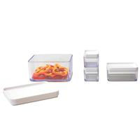 Conjunto de Potes Coza Mod 99201/4181 Transparente 4 Peças