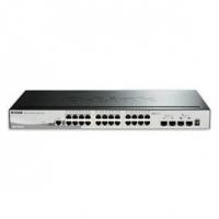 Switch D-Link SmartPro 24 10/100/1000 2SFP 10G 2SFP+ Stackable DGS-1510-28P BR