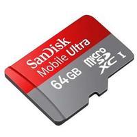 Cartão de Memória SanDisk 64GB + 1 Adaptador SD